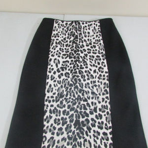 WHBM Pencil fitted Skirt Animal Print in size 8